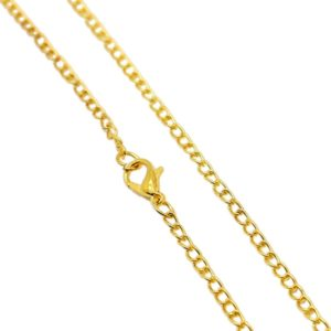 Watch chain necklace to wear as a long necklace