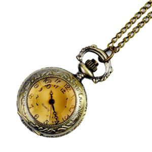 Antique style necklace watch
