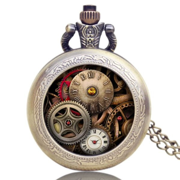 Montre gousset Steampunk Le Temps
